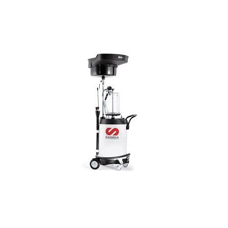 Récupérateur d'huile usée mixte 100 l avec bol de contrôle